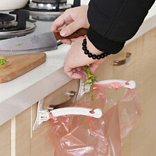2pcs ABS Kitchen Cupboard Smashing Tailgate Stand Storage Garbage Bag Hang Hook