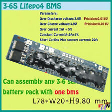 3s 4s 5s 6s BMS PCM lifepo4 Li-ion lithium battery protection board  Batterie