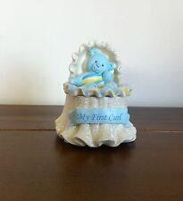 RUSS Baby Boy First Curl Holder Teddy Bear Keepsake Box Gift