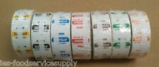"7 DAY FOOD DATE DAY LABELS 1""X1"" REMOVEABLE COLOR CODED 1000 / ROLL DOT LABEL"