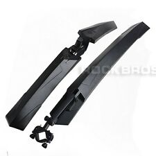 "Rockbros 26"" Cycling Bike MTB Fender Mudguard Front & Rear Quick Release Black"
