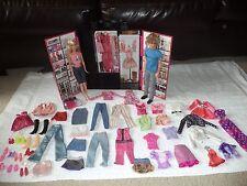 Barbie Fashionista Ultimate Walk In Closet Carry Case Plus Accessories & 2 Dolls