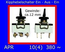 Schalter Ein-Aus-Ein Kipp- & Wippschalter 15 Amp. 250 V.~ Bauelemente von APR