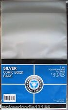1000 New CSP SILVER AGE Comic Book Archival Poly Bags- 7 1/8 X 10 1/2
