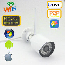 NETCAT Outdoor Wireless Wifi IP Camera IR-Cut HD 720P 1MP Audio I/O ONVIF P2P