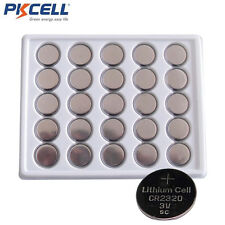 200 Wholesale CR2320 BR2320 CR 2320 3V Lithium Coin Cell Batteries PKCELL
