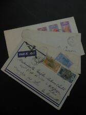 FRENCH GUINEA : 4 Very nice covers to USA, Lebanon & France.