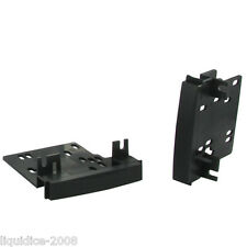 CT24CH07 JEEP LIBERTY 2008 ONWARDS BLACK SIDE BRACKETS DOUBLE DIN INSTALLATION