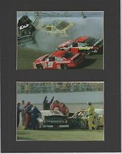 DALE EARNHARDT, SR. DAYTONA 500 WRECK AND EXTRICATION MATTED PHOTOS #2