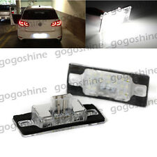 2x CANBUS LED License Plate Lights White For Porsche Cayenne VW Touareg Tiguan