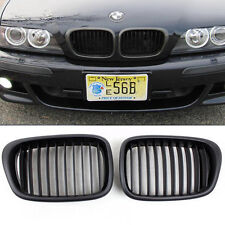 Front Matt Black Kidney Grilles Grill For BMW E39 525i 528i 530i  M5 2000-2003