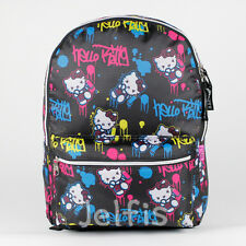 "Sanrio Hello Kitty - Paint Graffiti 16"" Large Girls Book Bag Tablet Compartment"