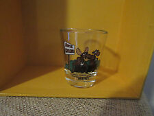Maine MOOSE CROSSING Clear Shot Glass