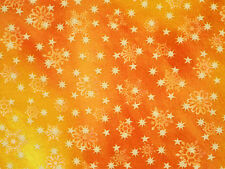 FAT QUARTER LOVE & PEACE  CHRISTMAS HOLIDAY  STARS SNOWFLAKES 100% COTTON FABRIC