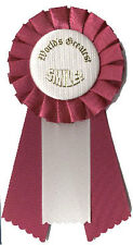 World's Greatest Smile: Pin-On Mini Rosette