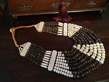 UNUSUAL VINTAGE MOROCCAN BERBER AFRICAN TRIBAL BEAD NECKLACE