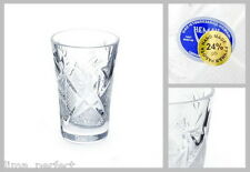 Russian European Cut Crystal Shot Glass for Vodka, Cognac Set of 6 Vintage USSR
