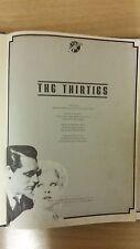 The Thirties: Music Score (E2)