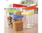 SET OF 5 STORE AND POUR PLASTIC STORAGE CONTAINERS - PASTA,CEREAL,NUTS etc