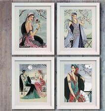 Disney set 4 Deco Lady Ladies Poster Picture Print Photo Wall Art Decor Gift
