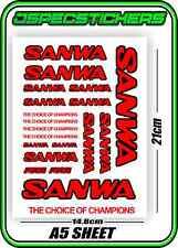 SANWA RC RADIO CONTROL STICKERS MT4 M12 SERVO RX TX CAR BUGGY HOBBY RED BLACK