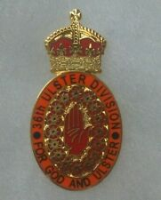 36th ulster division  badge somme 1916 enamel loyalist orange order