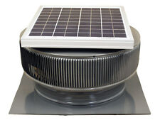 Aura Vent Solar Fan, 14 Inch, Exhaust, Roof, 15W, 17V, 1007 CFM, Gray