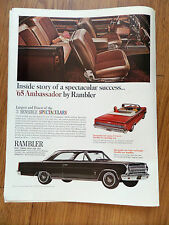 1965 Rambler Ambassador Ad    Inside Story of a Spectacular Success
