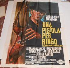 MANIFESTO 4F ORIGINALE UNA PISTOLA PER RINGO GIULIANO GEMMA 1965