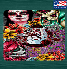 Sugar Skull Day Of The Dead Mouse Pad Mat