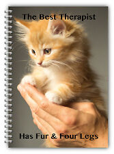 NEW A5 PET ANIMAL NOTEBOOK STANDARD /50 LINED BLANK PAGES NOTE PAD/CAT KITTEN 04