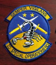 USAF FLIGHT SUIT PATCH, 2ND SPECIAL OPERATIONS SQUADRON,MQ9 PREDITOR,KUWAIT MADE