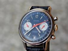 """Beautiful chronograph from 1969,""""Valjoux 7734"""",black dial,multicolour date at 6"""