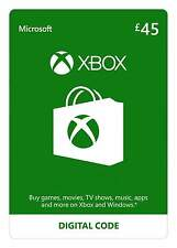 UK 45 GBP Microsoft XBOX Live £45 GIFT CARD Xbox One 360 - instant delivery