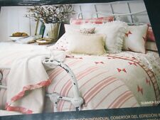 Ralph Lauren Summer Cottage King Fitted Sheet  Pink White New