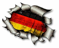 Ripped Torn Metal Look Design Germany German Country Flag vinyl car sticker