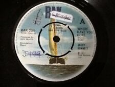 JAGGY BONNETT . WHERE HAVE YOU GONE . DEMO RECORD PROMO COPY .  1977