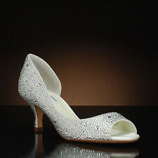 Benjamin Adams London Wedding Bridal Crystal Pumps Shoes 37,5 8 NEW