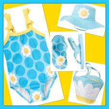 NWT 18-24 mos Gymboree POP OF DAISIES 4pc SWIMSUIT, HAT, SANDALS & BEACH BAG SET