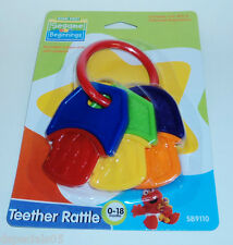 SESAME STREET BEGINNINGS Teether Rattle 0-18 Mos. New In Package