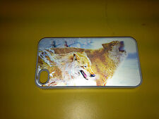 I PHONE 4 4S MOBIL MOBILE PHONE CASE COVER WOLF RUNNING WOLVES 3D EFFECT