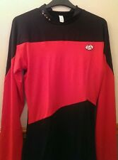 MENS STAR TREK FANCY DRESS /  TSHIRT RED AND BLACK Size XX-LARGE