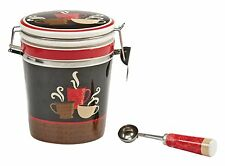 Boston Warehouse Coffee Canister and Scoop Set, Coffee Cups