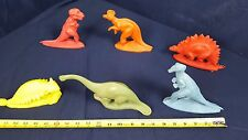 Lot 6 Dinosaur Sinclair 1964 World's Fair Dinoland Plastic Misspelling Near Mint
