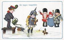 """C1314) WW1 BIMBI DI BERTIGLIA, """"UN BAGNO INASPETTATO""""."""