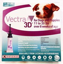 Vectra 3D for Large Dogs 11-21 lbs Spot On Flea and Tick Treatment 3 Month