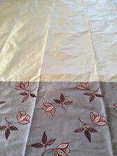 Laura Ashley Design Service gold silk Curtains with oriental panel 127cm wide