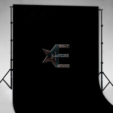 Seamless Flocked Fabric Cloth Photography Backdrop Black 1.5 x 3m 5 x10ft