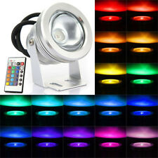 Waterproof 10W RGB 16 Color Changing Remote Control LED Flood Light 12V Outdoor
