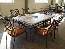 Outdoor Patio Furniture 7 pc Cast Aluminum Dining Set